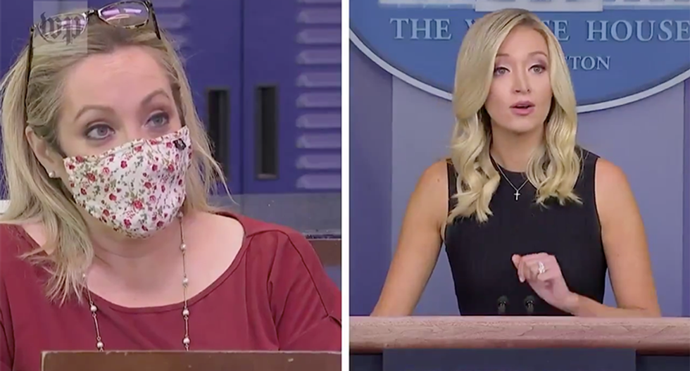 Right-wing media claims reporter swore at Kayleigh McEnany -- except she didn't