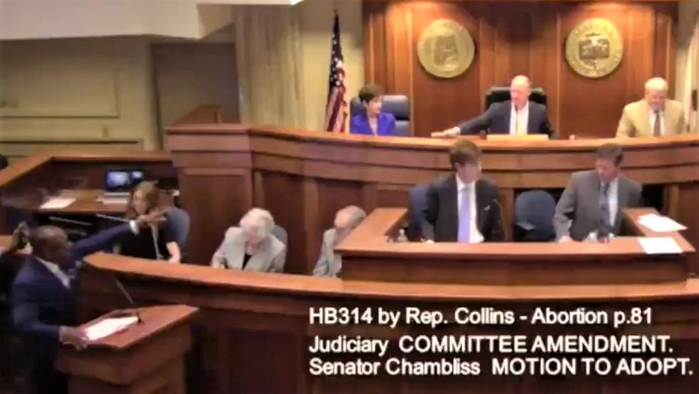 Alabama Senate erupts in chaos as GOP tries to jam through bill to punish abortions with 99 years in prison