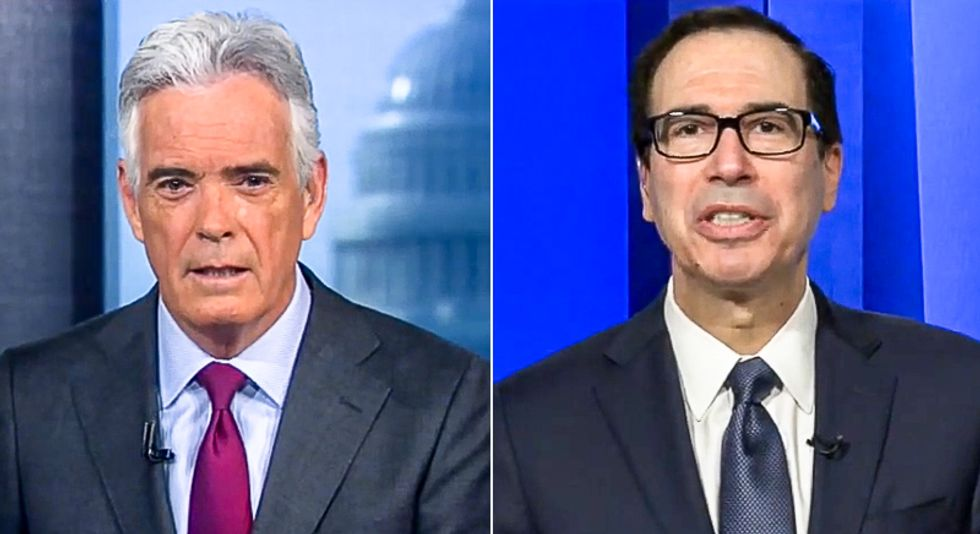 Mnuchin battles Fox News host on virus failures: 'Nobody expected this to take off at the rate it did'
