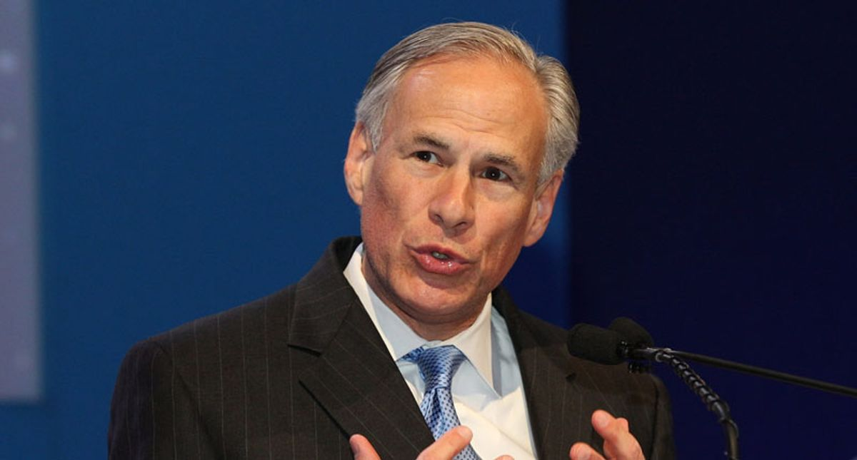 WATCH: Gov. Greg Abbott practices sounding sincere for mic check ahead of briefing