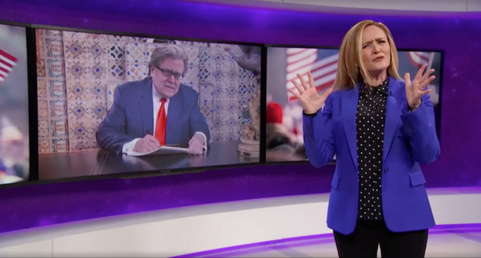 Samantha Bee rips Trump's inauguration: America swore in 'the concept of white male mediocrity'