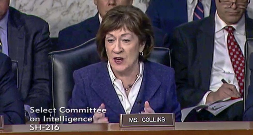 GOP's Susan Collins slams DHS chief on elections: 'When I listen to your testimony, I hear no sense of urgency'