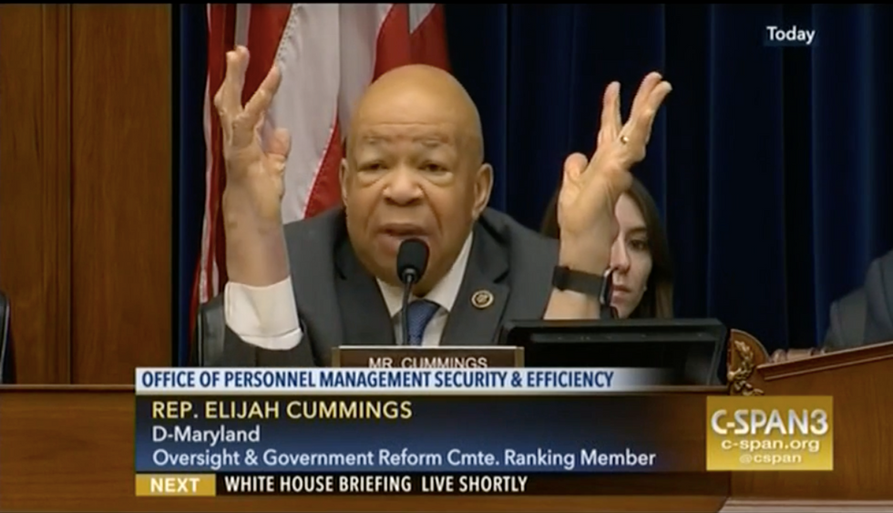 Elijah Cummings blasts GOP inaction on Russia after Reps. Chaffetz and Lynch erupt in shouting match