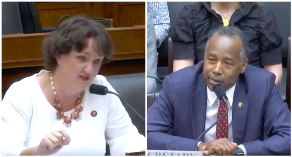 WATCH: Congresswoman stunned as Trump's housing chief Ben Carson confuses foreclosures with Oreo cookies