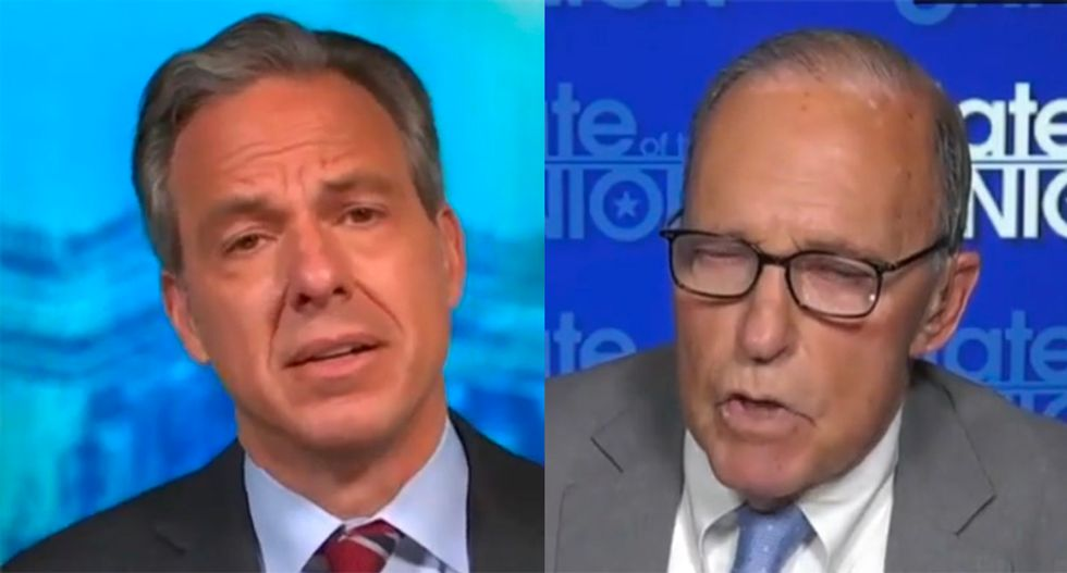 Larry Kudlow dodges Jake Tapper on COVID deaths: 'Don't forget there's a $1,200 check coming'