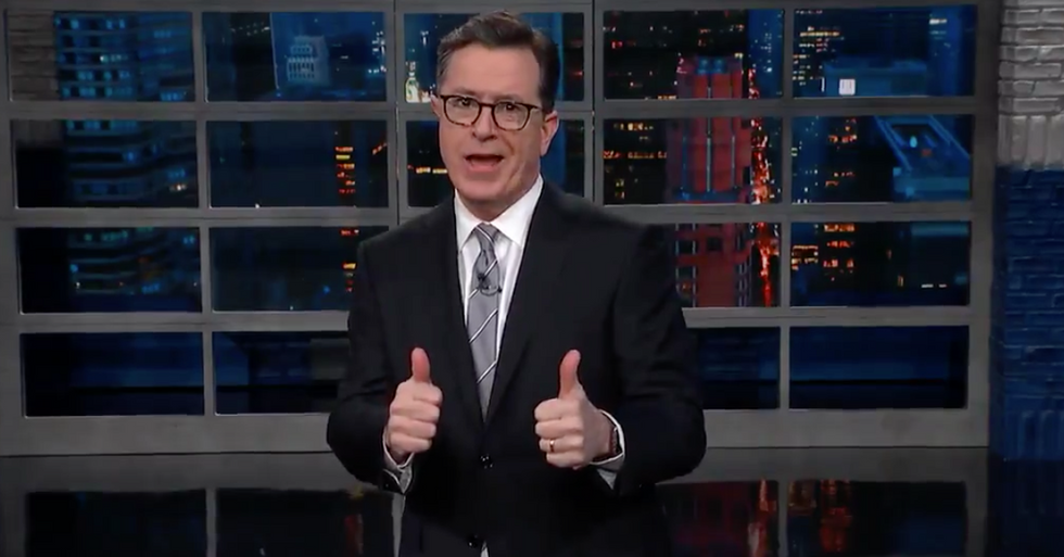 Stephen Colbert predicts next Trump defense from Rudy Giuliani: 'Collusion's a crime, but it's just a little crime'