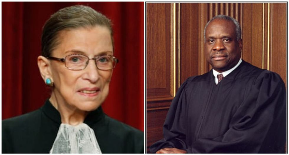 Ruth Bader Ginsburg scorches Clarence Thomas in abortion ruling footnotes