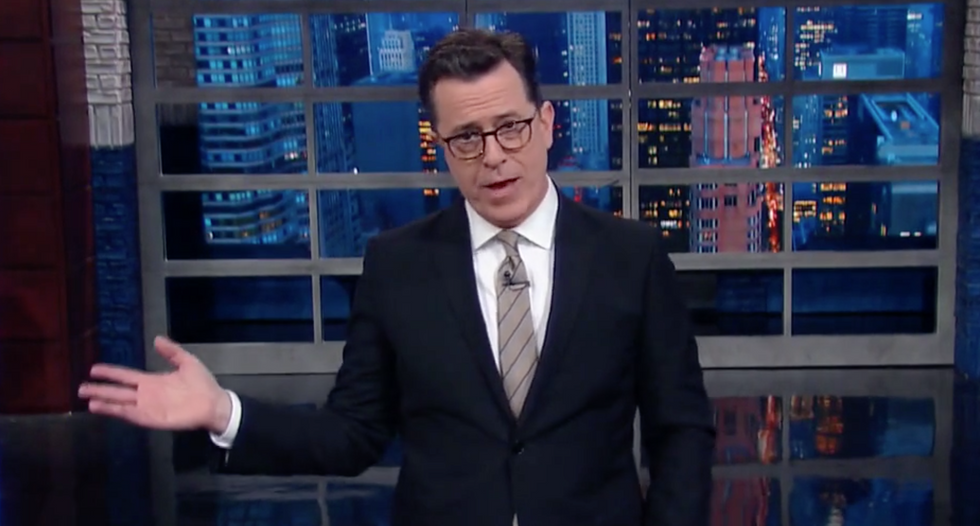 'These tweets make him look like a real d-bag': Colbert nails Trump's 'insane' Twitter habit