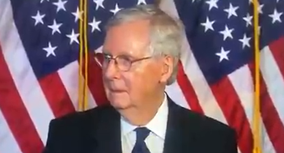 WATCH: Mitch McConnell confused after learning GOP's coronavirus bill funds new FBI HQ near Trump's DC hotel