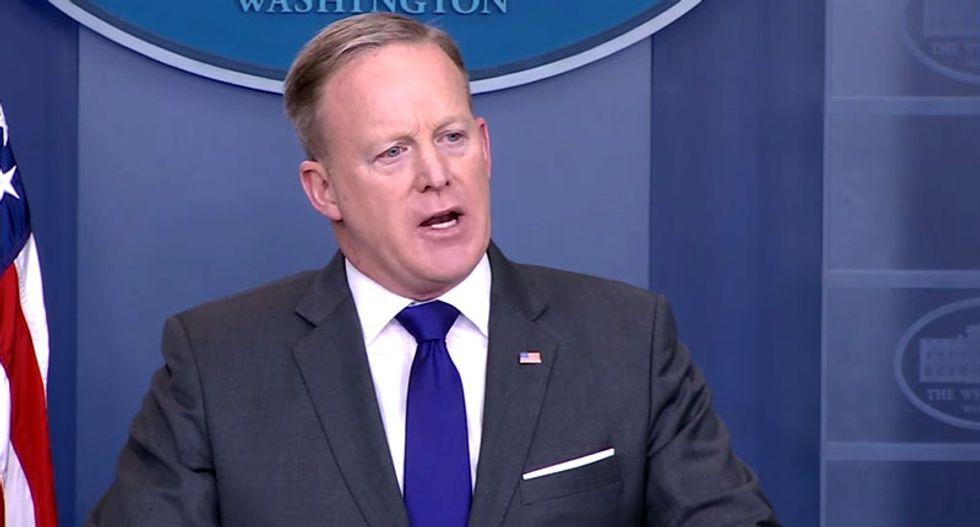 WATCH LIVE: Sean Spicer holds White House press briefing with Trump's EPA chief Scott Pruitt