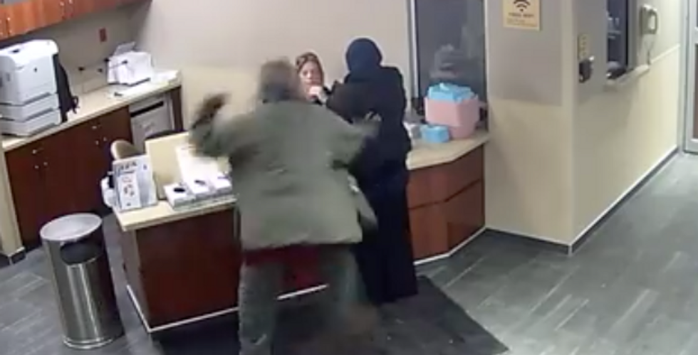 'She never saw it coming': White patient beats teen Muslim while she's checking into the emergency room