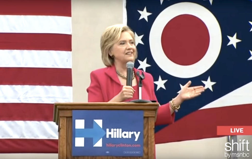 Republicans squeal when Hillary Clinton compares them to 'terrorist groups' on women's issues