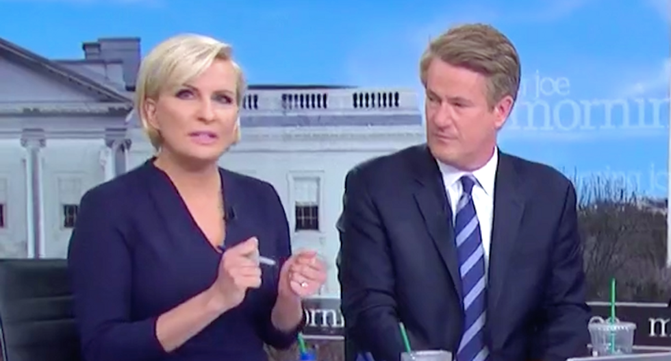 MSNBC's Mika calls on Sinclair anchors to rebel against Trump — like she risked her job over Paris Hilton