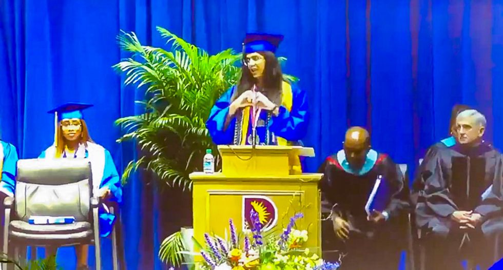 WATCH: Texas school cuts mic on valedictorian after she says names of black men killed by alleged racists