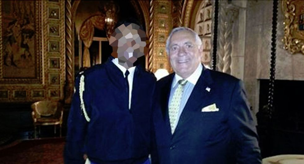 Mar-A-Lago member posts photo of himself with officer carrying the 'nuclear football' at Trump event