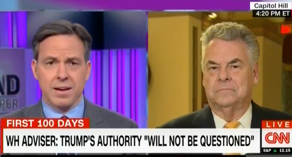 'It's actually called the SUPREME Court': Jake Tapper mocks claim Trump's power 'will not be questioned'