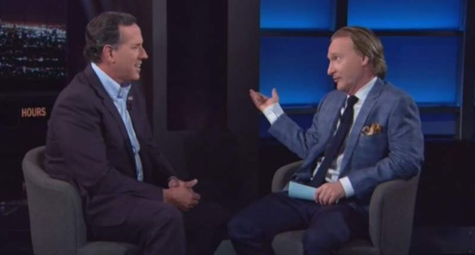 Bill Maher mocks Rick Santorum: How come I'm on the Pope's side on climate change and you're not?