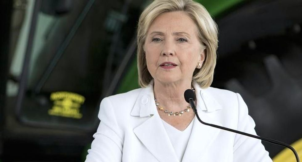 Presidential candidate Clinton says removing Assad in Syria is No. 1 priority