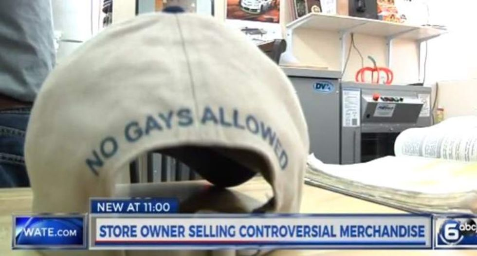 Homophobic Tenn. pastor now hawking 'no gays allowed' merchandise at his store