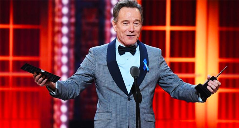 WATCH: Bryan Cranston perfectly nails Trump -- without mentioning his name -- during Tony acceptance speech