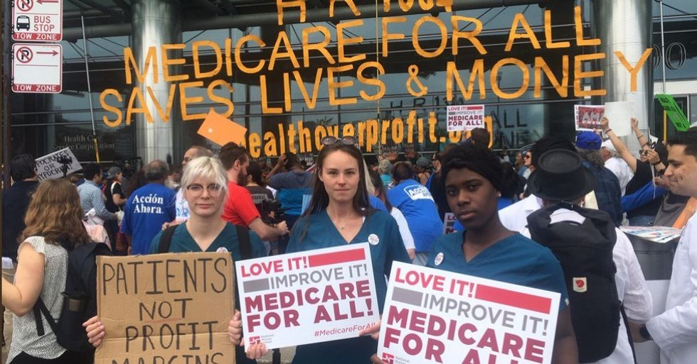 Insurance industry is clearly 'terrified,' says Bernie Sanders, as lawmakers admit lobbyists helped them write attacks on Medicare for All