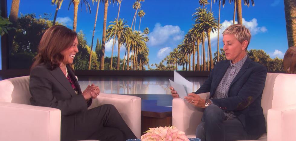 WATCH: Kamala Harris refuses to tell Ellen DeGeneres if she's running for President in 2020