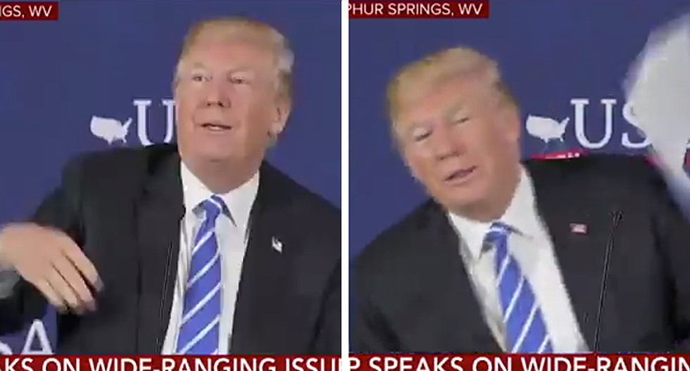 'This is boring': Trump literally tosses out his prepared remarks during tax roundtable-turned immigration rant