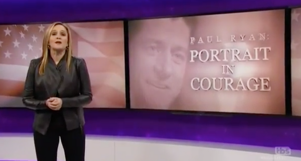 Sam Bee torches 'brown-noser' Paul Ryan for helping 'wildly incompetent bumblef*cks' take the White House