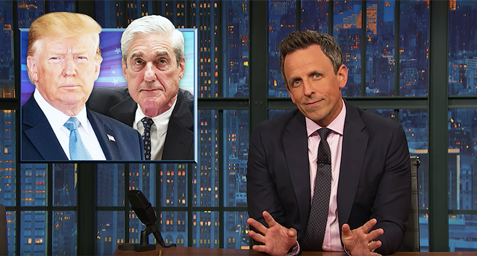 Seth Meyers knows exactly how Mueller can get Trump to answer questions