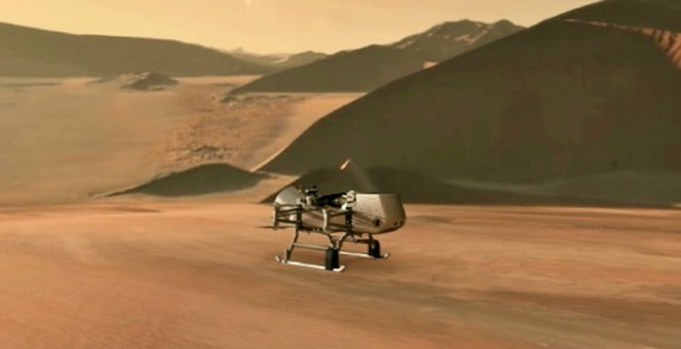 NASA will fly a drone to Titan to search for life