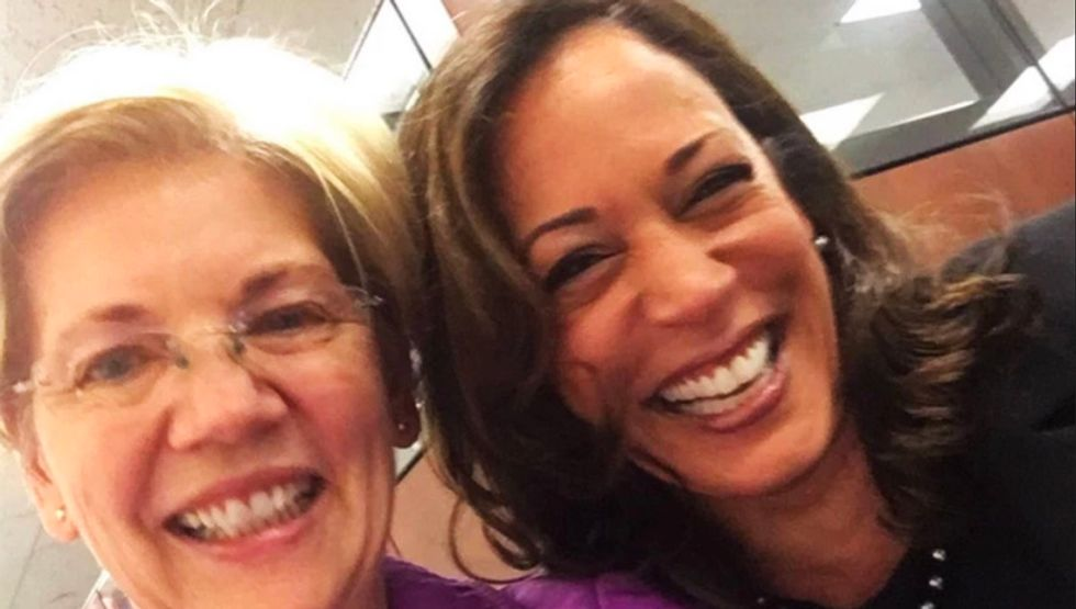 Elizabeth Warren and Kamala Harris stole the show at the debates -- so why can't we have two women on the ticket?