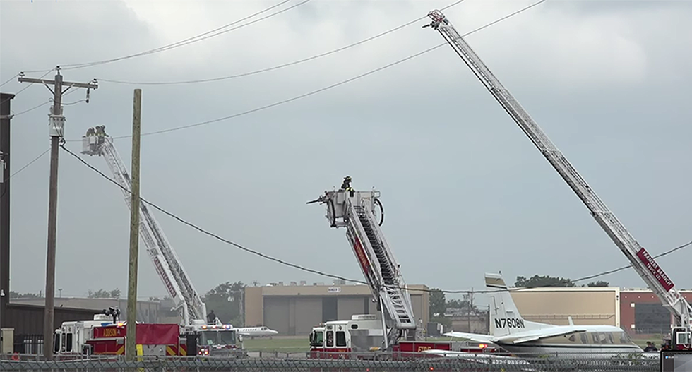 10 dead in Texas after plane crash and massive fire
