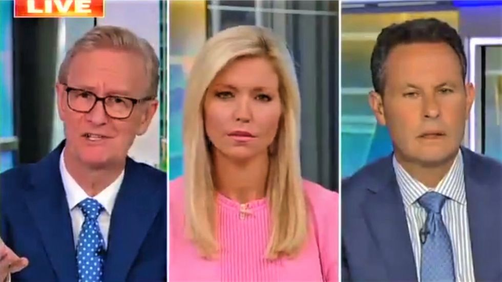 Fox & Friends hosts look visibly uncomfortable when Trump calls the media the 'enemy of the people'