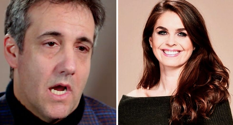 'Keep praying!' Hope Hicks texted Michael Cohen to ask God to make the porn star payoff scandal go away