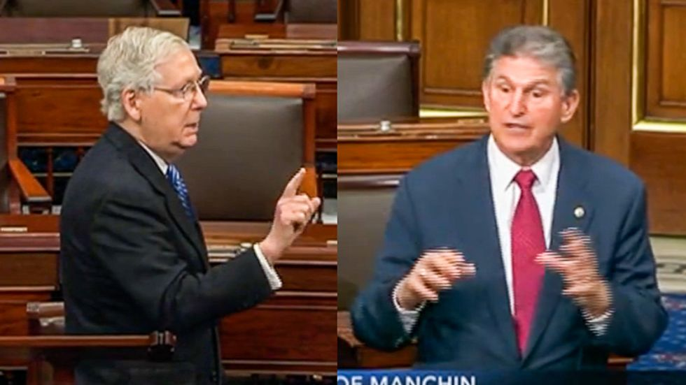 Manchin erupts into shouting match with McConnell: You're 'more concerned about the health of Wall Street'