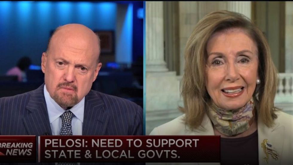 'Oof, Jesus': CNBC's Jim Cramer rattled after Pelosi slams GOP amid stimulus negotiations