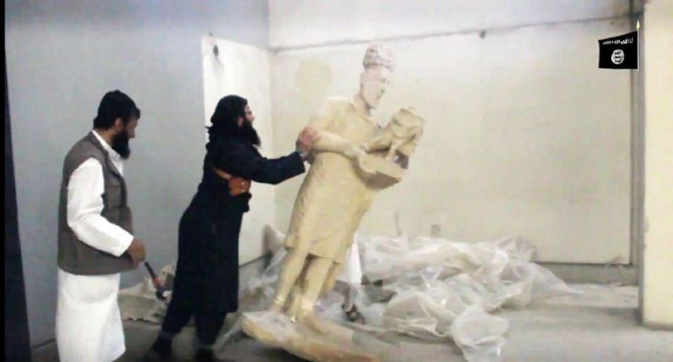 Iraqi forces retake archaeological museum in Mosul that was vandalized by the Islamic State