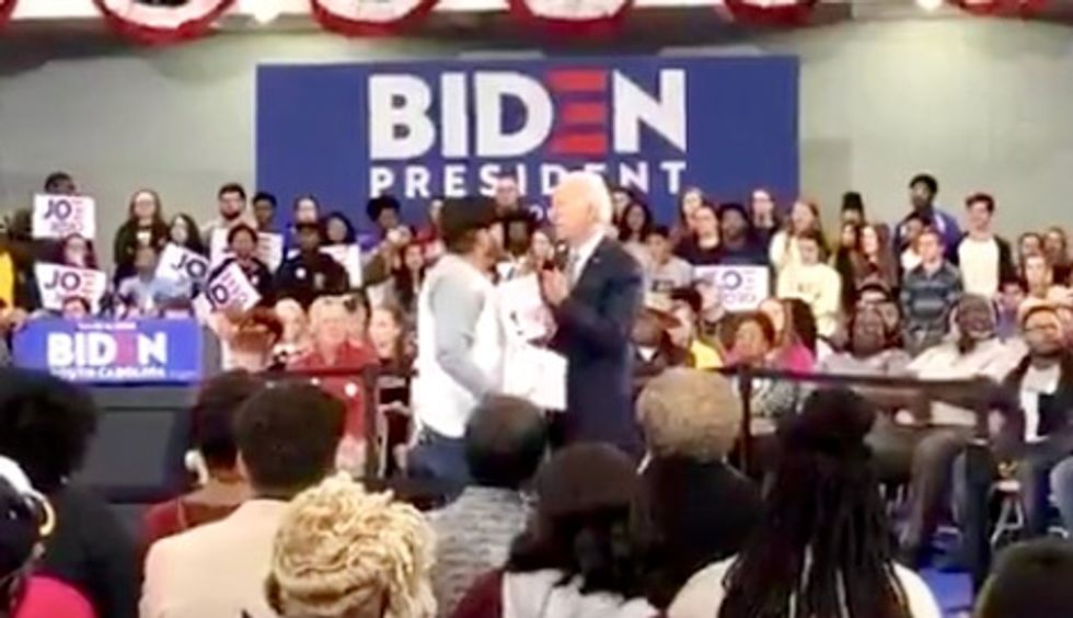 Joe Biden under fire for telling immigrant rights activist demanding end to deportations to 'vote for Trump'
