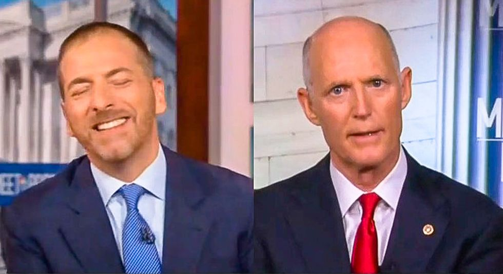 Rick Scott falls apart when asked to condemn Trump's racist attack on Cummings: 'I didn't do the tweet'