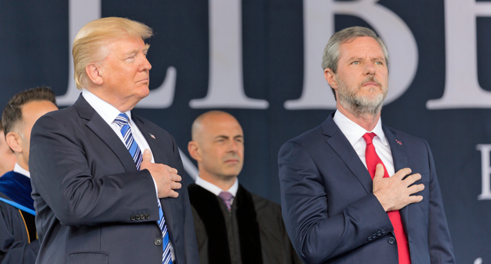 Prominent Trump evangelical supporter Jerry Falwell Jr. mocked after being benched by Liberty University