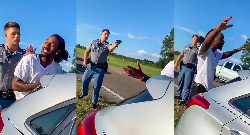 WATCH: Traffic stop turns violent after officer pulls weapon on black man for 'speeding'
