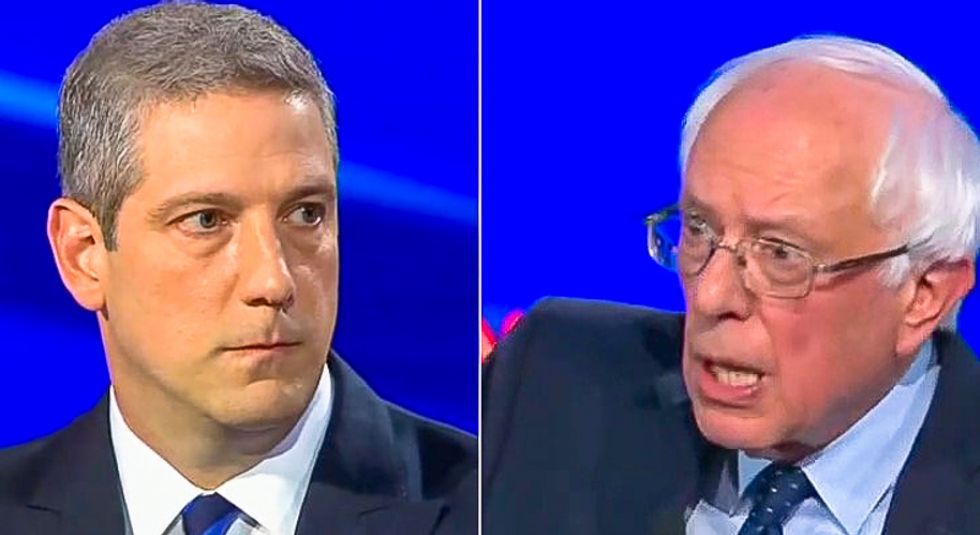 Bernie Sanders dunks on Tim Ryan at Democratic debate: 'I do know, I wrote the damn bill'