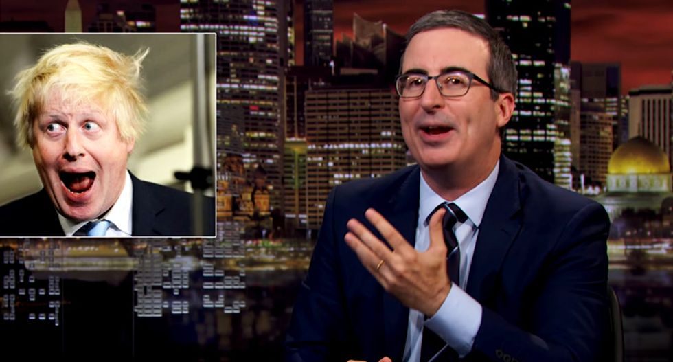 John Oliver reveals how 'disgusting' Boris Johnson survives political embarrassment — and how it will not work as PM