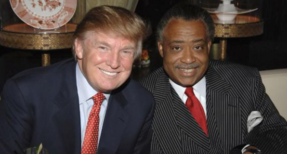 Trump busted for kissing up to Al Sharpton in hopes of landing Mike Tyson fight at his casino
