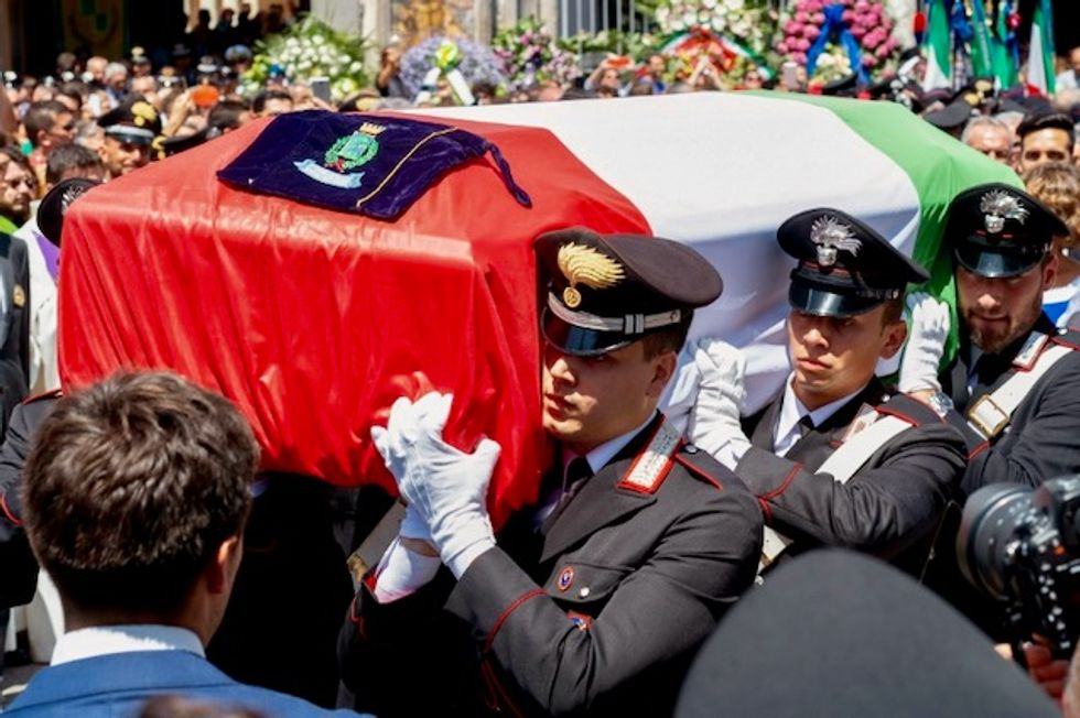 Funeral held for Italian officer allegedly stabbed by US teenagers