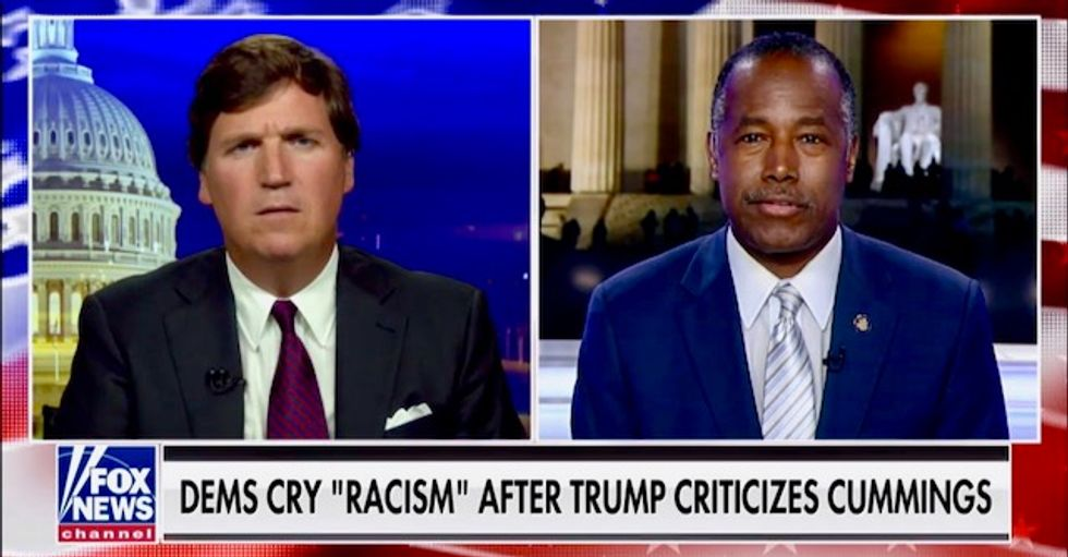 HUD Secretary Ben Carson echoes and defends Trump's racist attacks on his 'infested' hometown of Baltimore
