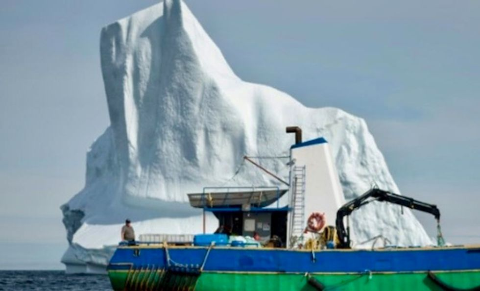 Canadian iceberg hunter on the trail of white gold
