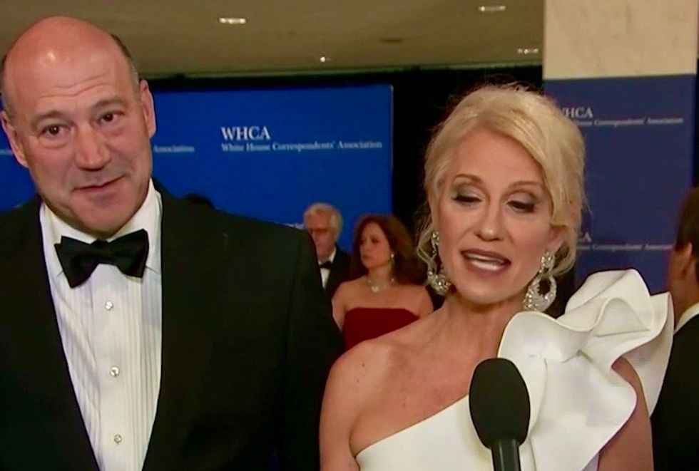 'He cuts out the middleman': Watch Kellyanne Conway throw shade on red carpet at the White House Correspondents' Dinner