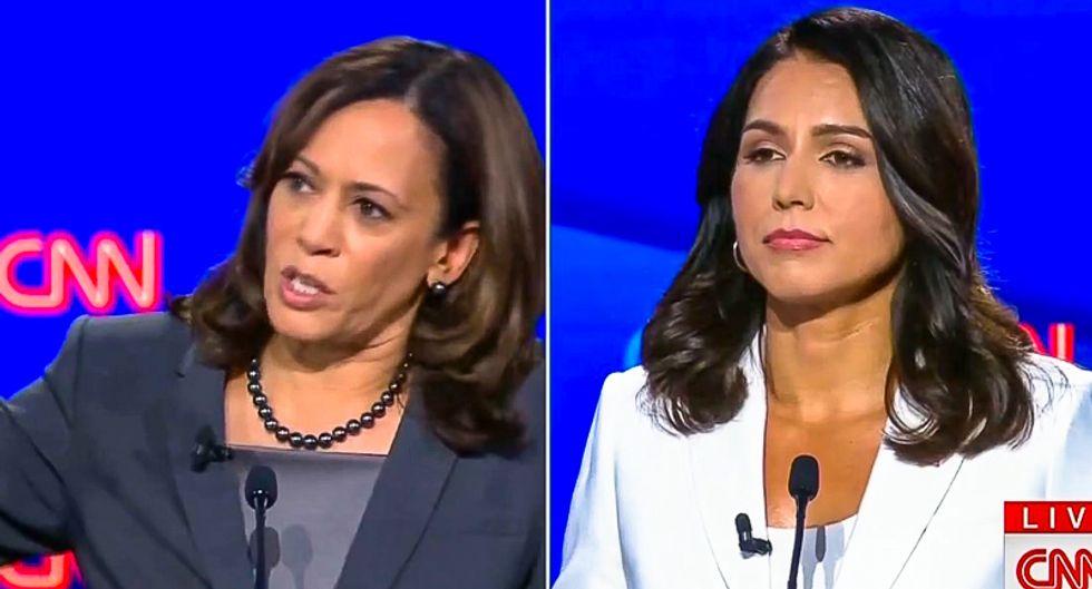 'Fancy speeches': Kamala Harris and Tulsi Gabbard clash at debate over marijuana and the death penalty