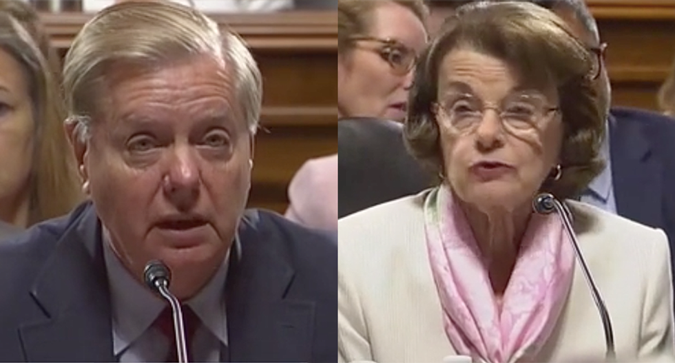 WATCH: Senators rip Lindsey Graham after he 'blatantly' breaks committee rules to push Trump bill